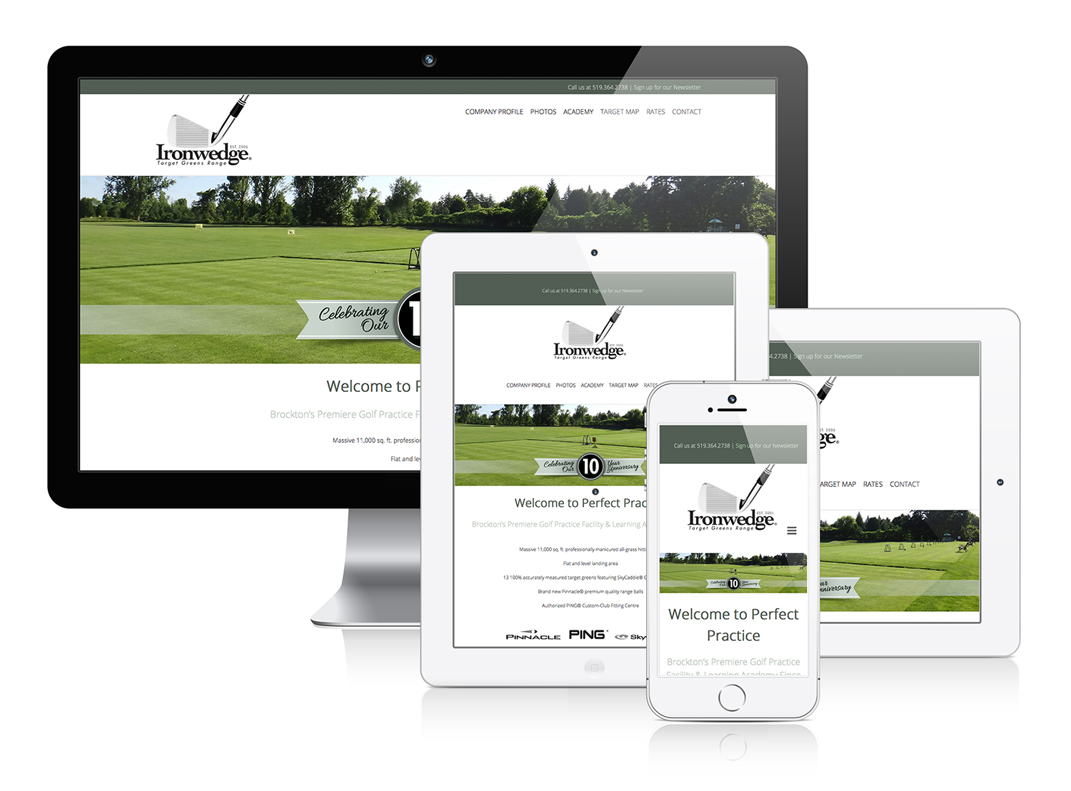 Ironwedge Target Greens Range - Responsive Web Design