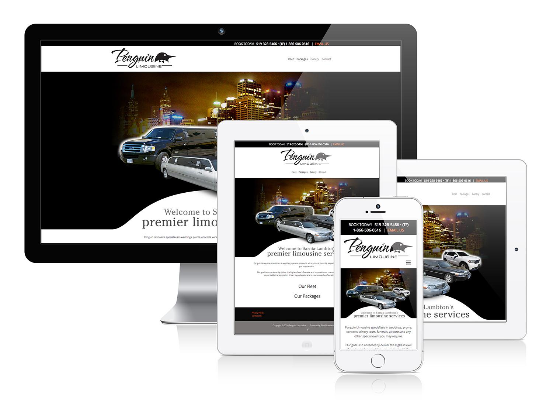Penguin Limousine - Responsive Web Design