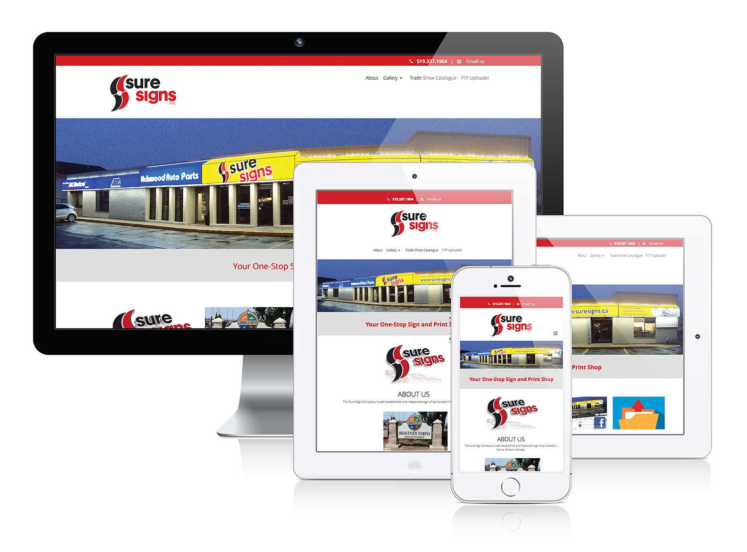 Sure Signs Inc - Responsive Web Design
