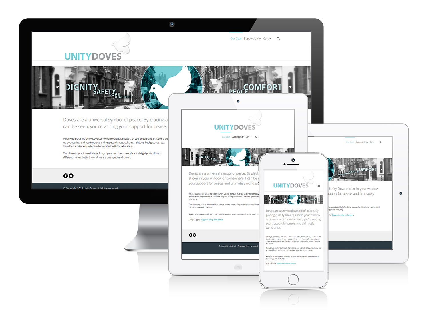 Unity Doves - Responsive Web Design