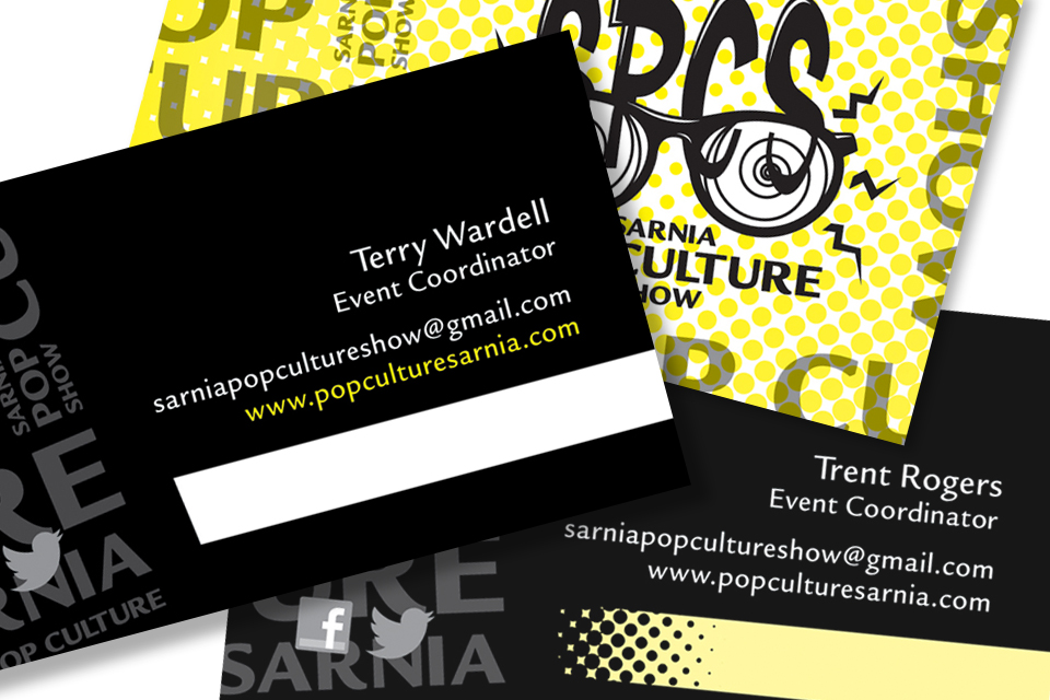 Sarnia Pop Culture Show - Business Cards