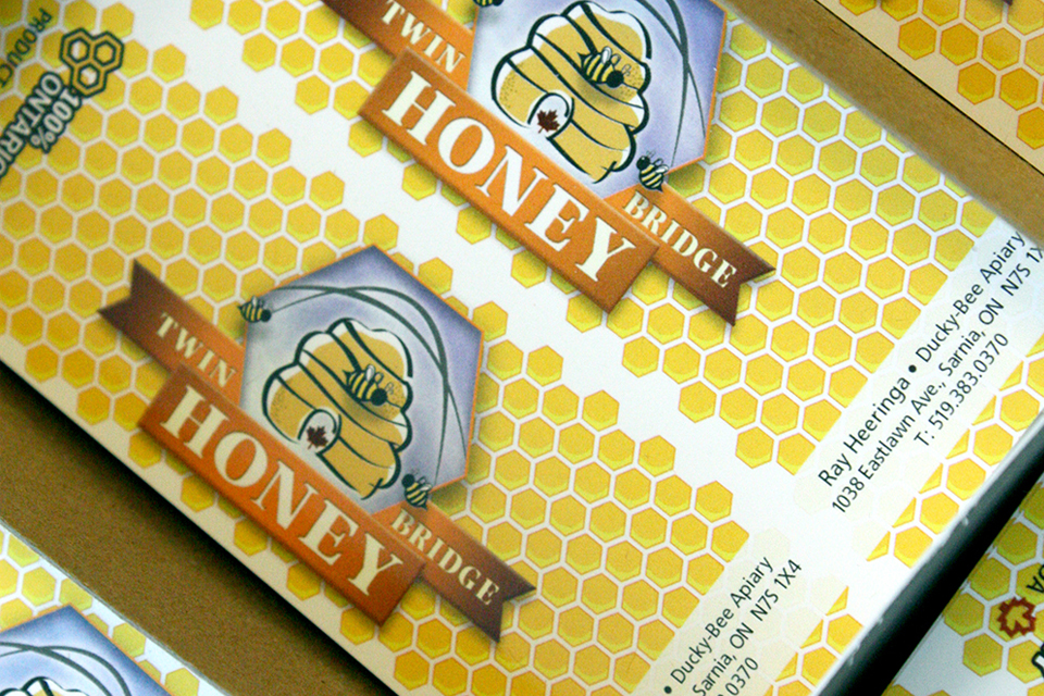 Twin Bridge Honey - Lid Labels
