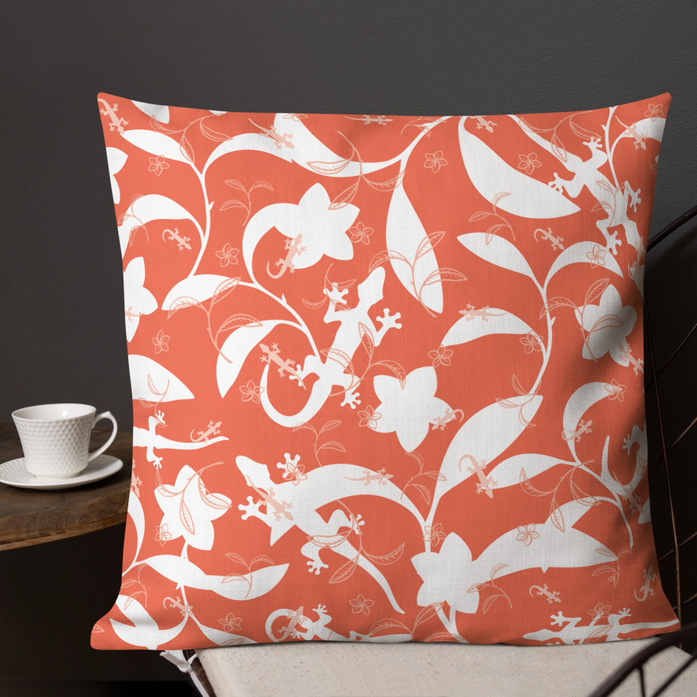 """Featured image for """"Premium Pillow - Lizards High Contrast - 22x22"""""""