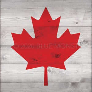 Canada Day Sign - Faux Wood