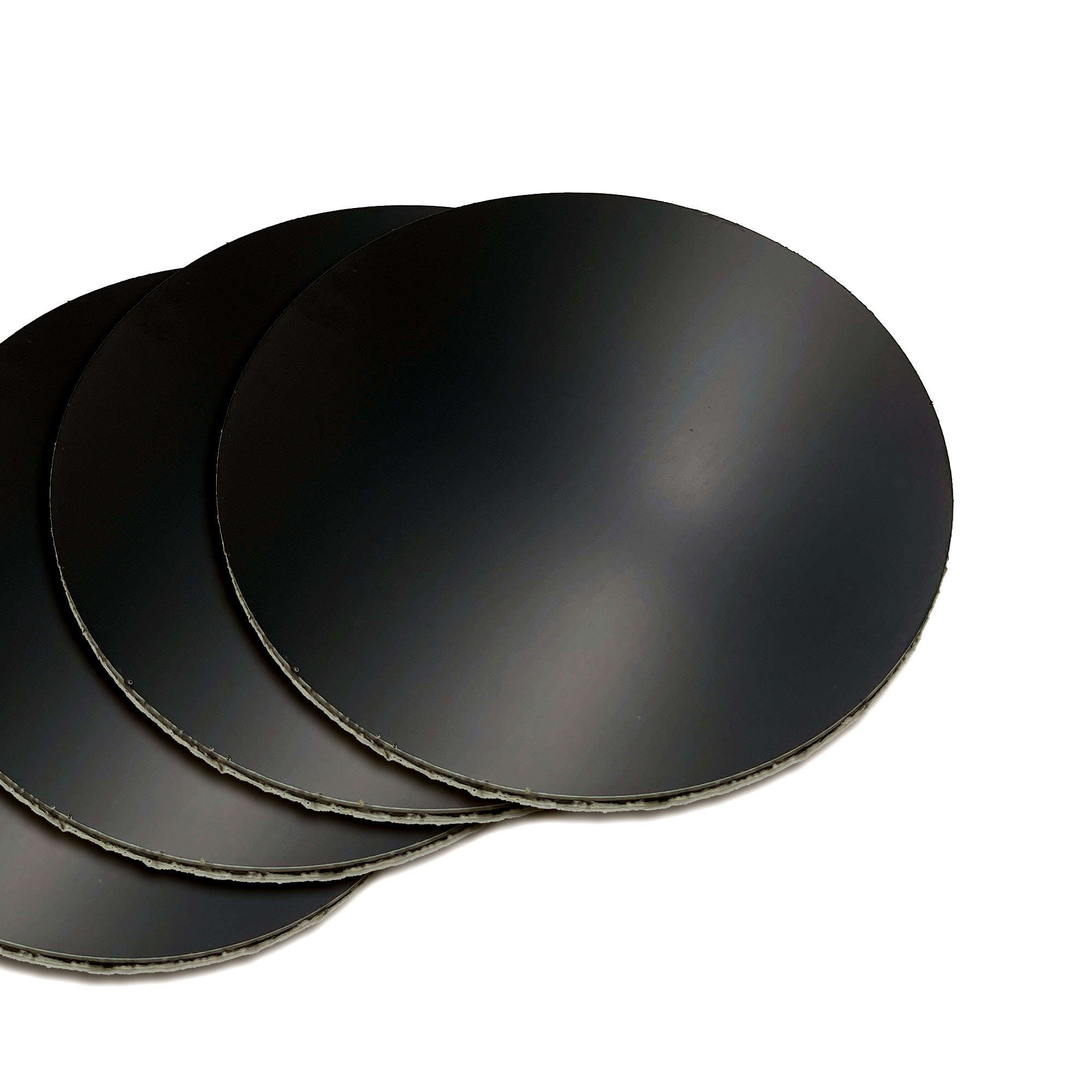 """Featured image for """"Black 4 Inch Aluminum Panel Rounds - Set of 4"""""""
